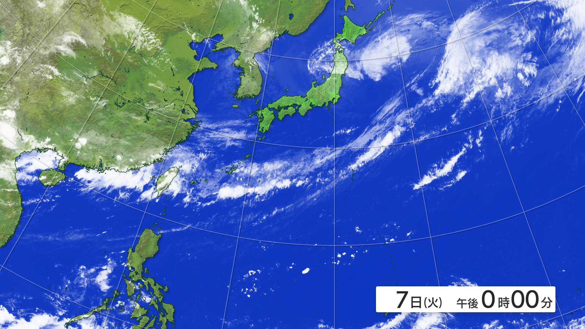 全国の天気 >> 衛星画像・予想図 >> ひまわり南方