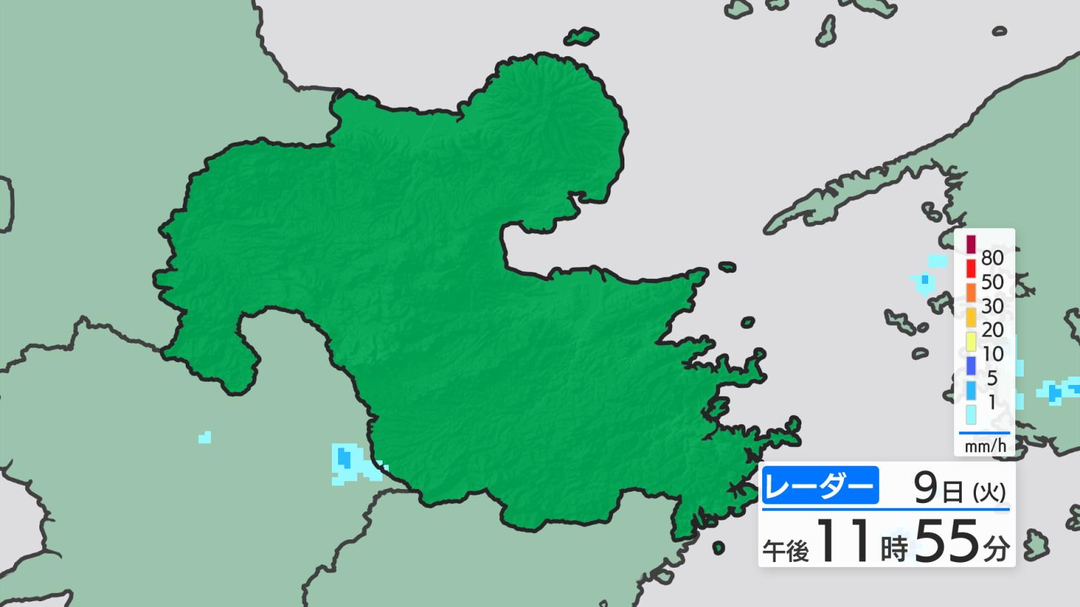 県内の天気 >> レーダー・アメダス >> レーダー大分(最新)